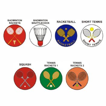Racket Sports pk of 5 25mm centres-